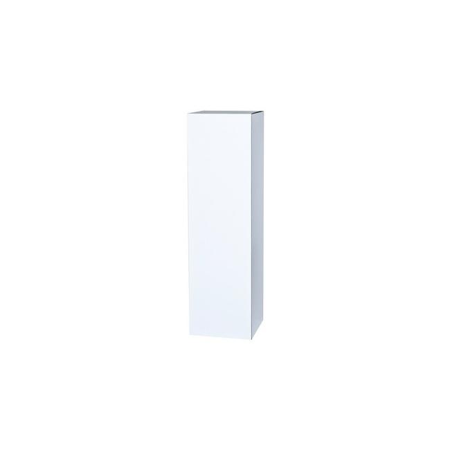cardboard plinth white, 45 x 45 x 100 cm (LxWxH)
