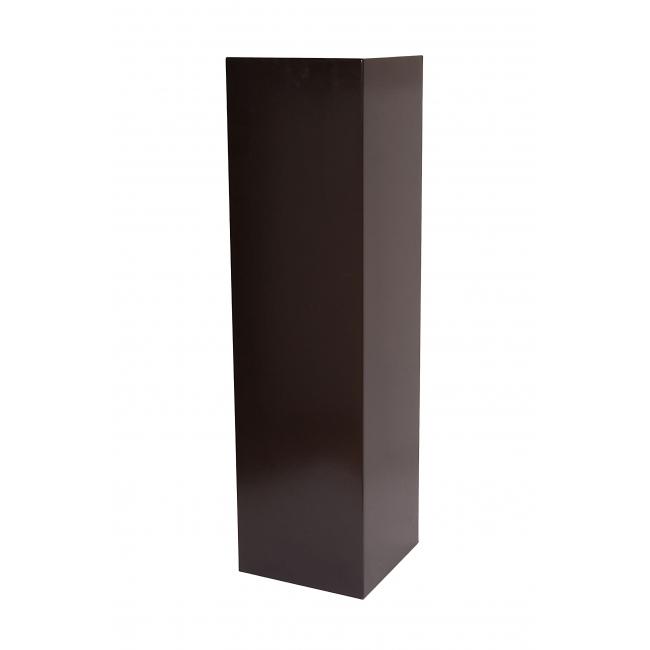 Solits plinth black, 30 x 30 x 100 cm (LxWxH)