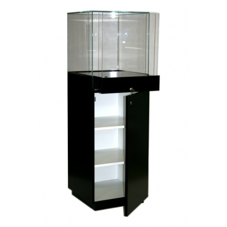 showcase plinth black, 47 x 45 x 145 cm (LxWxH)