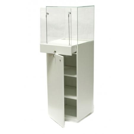 showcase plinth white, 40 x 40 x 140 cm (LxWxH)