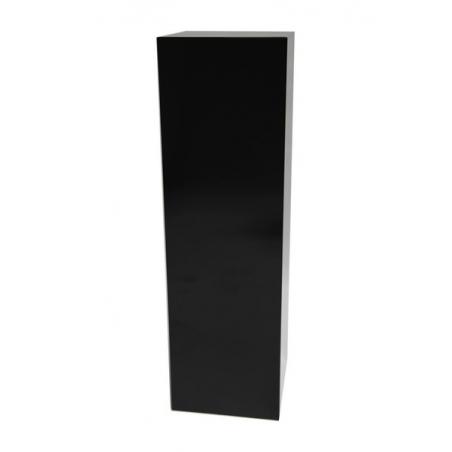 Solits plinth black high gloss, 50 x 50 x 100 cm (LxWxH)