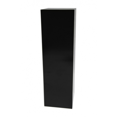 Solits plinth black high gloss, 40 x 40 x 100 cm (LxWxH)