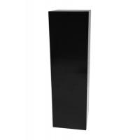 Solits plinth black high gloss, 40 x 40 x 100 cm (LxWxH)