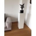 Solits plinth white, 30 x 30 x 100 cm (LxWxH)