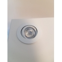 LED spot, Type 7, heigth 216 mm, 2x1W, silver