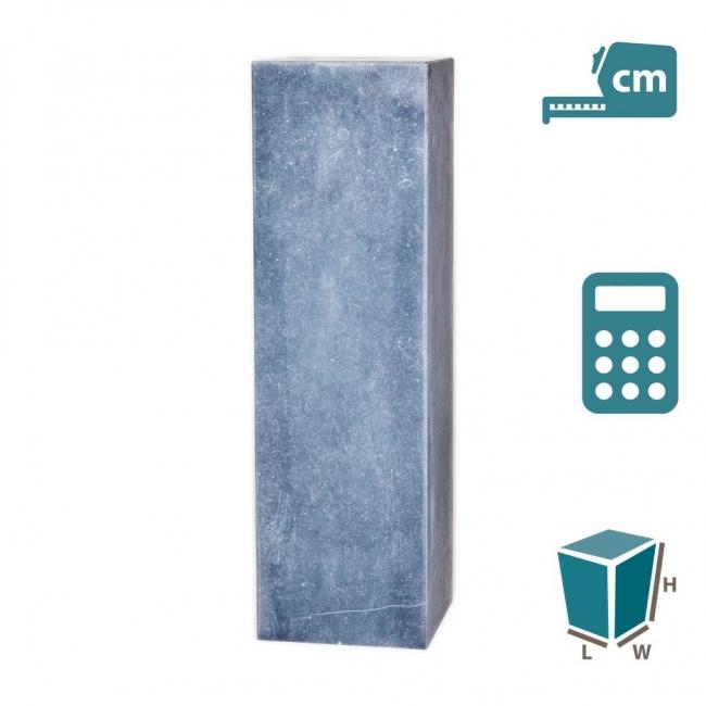 Pedestal Belgian blue stone, mitred, bespoke