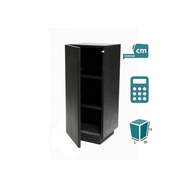 cabinet and storage plinth black high gloss, bespoke