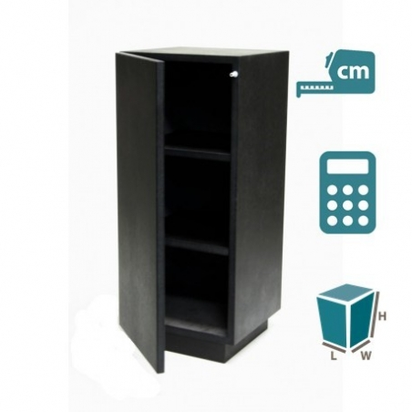 cabinet and storage plinth black high gloss, bespoke