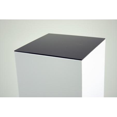 Acrylic plate 4mm, black, 30,2 x30,2 cm (for cardboard plinth 30 x 30 cm)