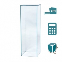 Glass plinth, bespoke