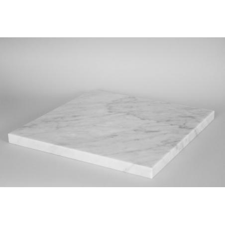 White Marble Top (Carrara, 20mm), 40 x 40 cm