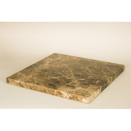 Brown Dark Marble Top (Emparador Dark, 20mm), 30 x 30 cm