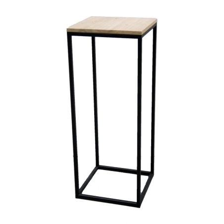 Industrial steel plinth 30 x 30 x 100 cm