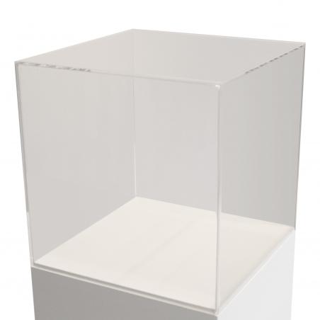 acrylic case, 60 x 60 x 60 cm (LxWxH)