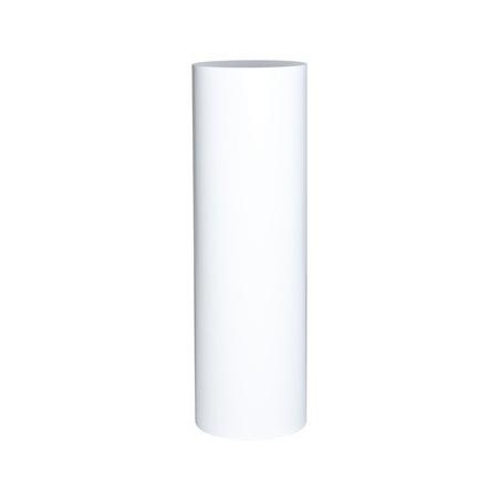 circular plinth white, Ø 25 x 100 cm (h)