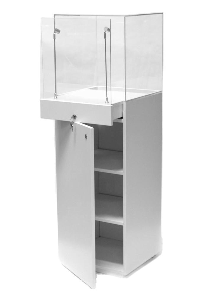 showcase plinth white