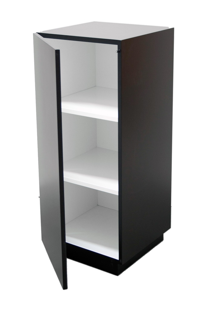 cabinet and storage plinth black