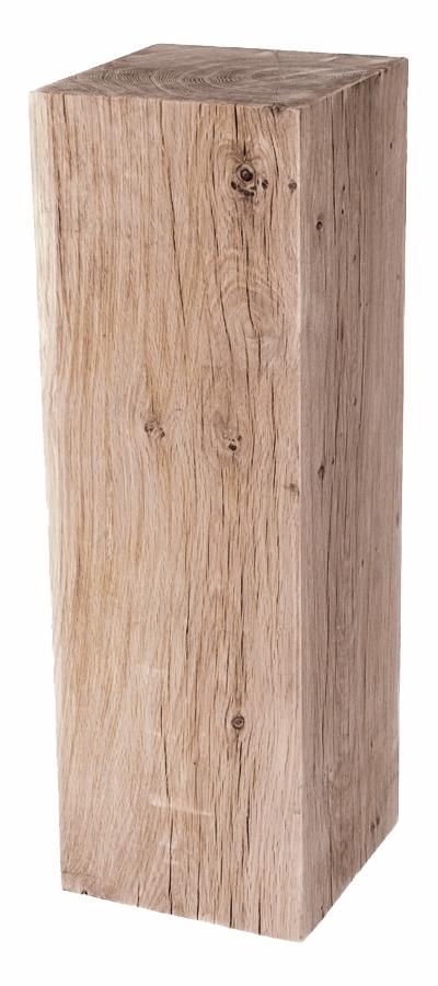 oak wood plinth sanded