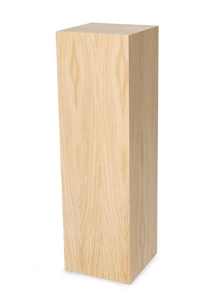 Oakwood veneer plinth