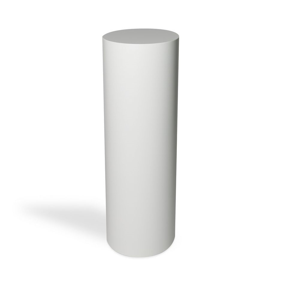 circular plinth white