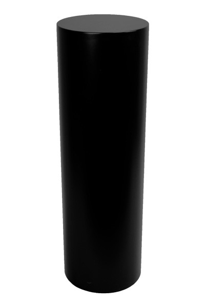 Circular plinth black