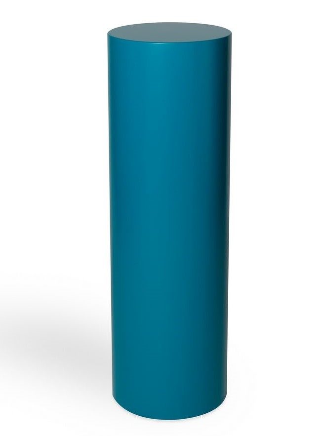 Circular plinth coloured
