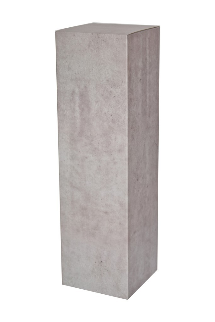 Cardboard plinth concrete look